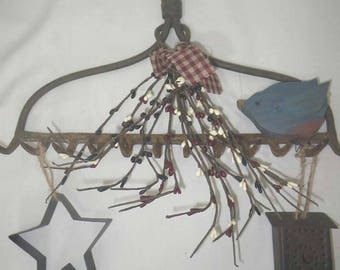 Metal Rake Primitive Decor ~ Rusty Rake ~ Country Home