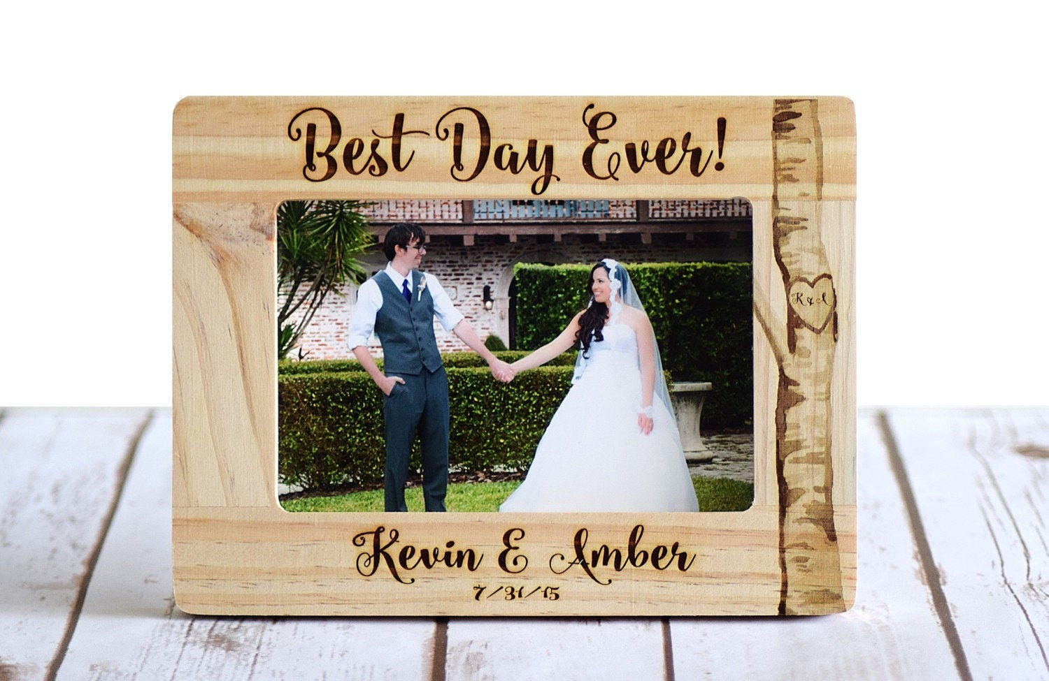Wedding Picture Gifts: Wedding Frame Personalized Wedding Gift Wood Burned Frame