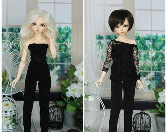 Overall and blouse for Minifee, Narae, Unoa, MSD, BJD doll 1/4 size
