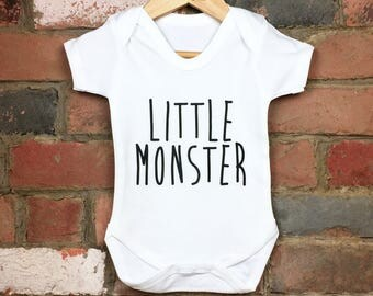 Little Monster Baby Bodysuit, Baby Monster, Funny Baby Onesie, Monster Onesie, Monster Baby Vest, Monster Baby Outfit, Funny UK Baby Gifts