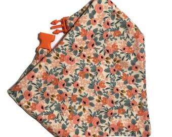 Summer Dog Bandana - NEW Rifle Paper Les Fleurs Collection Fabric - Bandana for Girl Dog