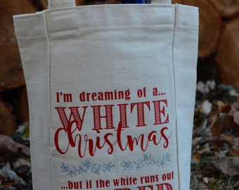 I'm dreaming of a white Christmas... Double-Bottle Wine Tote