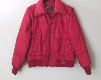 70s Ski Jacket Nylon Puffer Vest