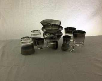 Dorothy Thorpe Style Silver Fade Barware Set | Eleven Pieces