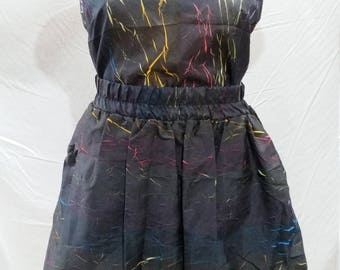 Vintage 80's co-ord twinset singlet and skirt