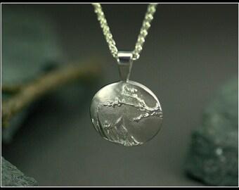 Tree necklace, silver tree mencklace, branch necklace, Landscape silver pendant, tree jewelry, botanical jewelry,  handmade, women pendant