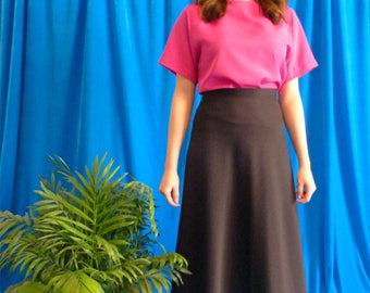 Shirt vintage 80s minimalist fuxia