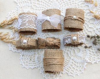 Burlap Wedding Napkin Rings, Rustic Wedding Decor, Rustic Wedding Napkin, Wedding Table Decor,  Rustic Wedding, Wedding Napkin Rings