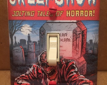 Creepshow Comic Book Light Switch Cover (Handmade,Stephen King, George Romero, Horror)
