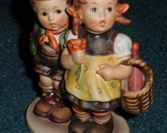 """Goebel Hummel Figurine """"To Market"""" #49/0 TMK5 Brother And Sister Going To Market - Collectible Gift!"""