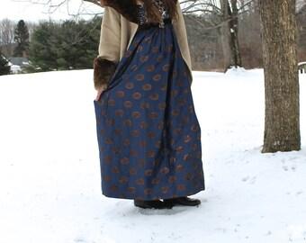Vintage, Strapless, 100% Silk, Beaded Gown. Empire Waist!
