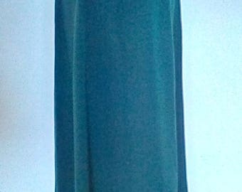 Vintage maxi skirt 70s Richard Shops Made in England Emerald Green jersey Maxi Skirt size small