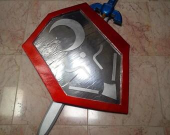 Mirror Shield Legend of Zelda Ocarina of Time Link Cosplay Prop Hylian