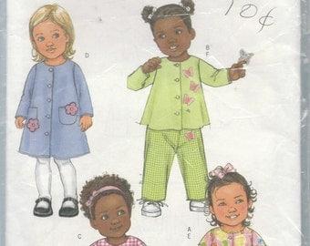Butterick 4433 Infants top, Dress, Panties and Pants Size Newborn-Large