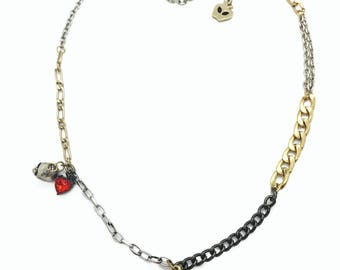 Poisoned Apple Charm Necklace with Varied Chain Types