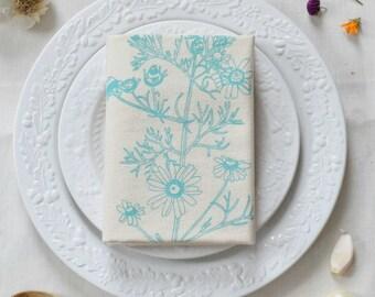 Tea Towel - Flour Sack Towel - Flower Kitchen Towel - Cotton Dishcloth - Botanical - Tea Towels - Woodland - Kitchen Decor - Housewarming