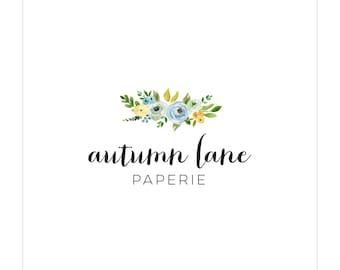 Premade Logo Design | Photography Logo | Modern Logo | Watermark | Branding Package | Watercolor Logo | Flower Logo | Floral Logo | Bouquet