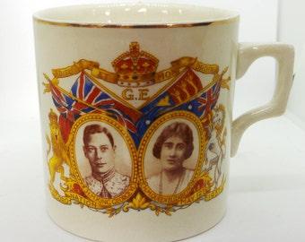 Vintage china mug - King George VI coronation mug