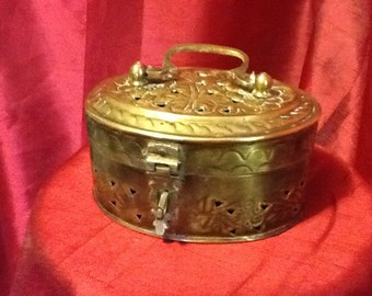 Brass fretwork box