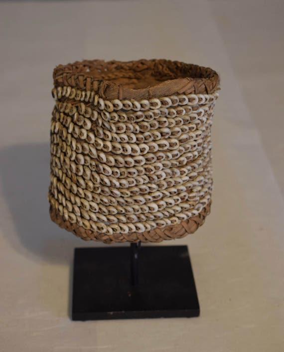Papua New Guinea Armband Nassa Shell Woven Fiber Armband Handmade Shell Woven Fiber Currency Shell Armband
