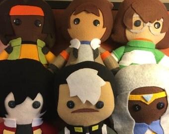 Voltron Legendary Defender Paladin Fleece Plush Dolls: Shiro Alura Lance Kieth Pidge Hunk