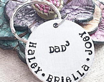 Fathers Day Gift, Gifts for Dad, New Dad Gift, Daddy Keychain, Dad of 3, Mens Personalized Gifts, Keychain for Dad, Daddy Gift, Dad of Girls