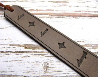 Leather Bookmark, Book Mark, Book Accessories, Live Love Laugh Bookmark, Inspirational Bookmark, 3rd Anniversary, Leather Gift Ready to Ship