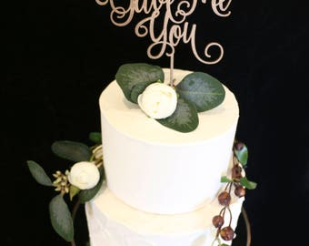 God Gave Me You Wedding Cake Topper- Metallic Rose Gold