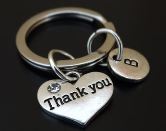 Thank you Keychain, Custom Keychain, Custom Key Ring, Thank you Pendant, Thank you Charm, Thank you Jewelry, Thank you Gift, Say Thank you