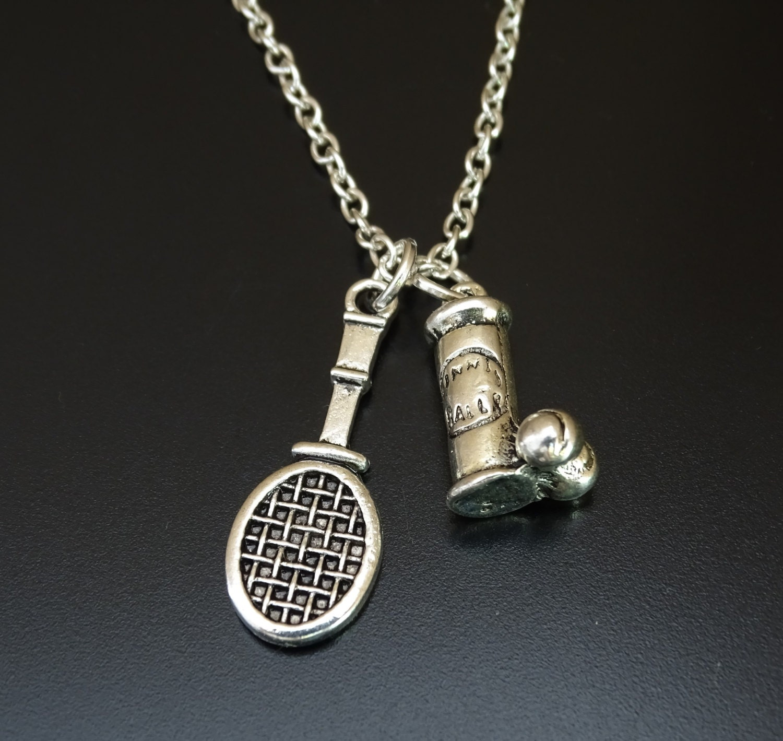 tennis necklace tennis charm tennis pendant tennis jewelry