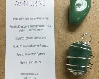 Aventurine Energy Gemstone Necklace- Interchangeable and Custom Created. Reiki Charged
