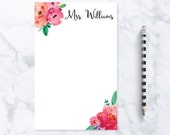 Personalized Teacher Gift - Teacher Notepad - Unique Wedding Gift - Teacher Appreciation Gift - Bridal Shower Gift for the Bride Gift Ideas