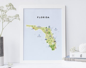 Map of Florida - Illustrated map of Florida