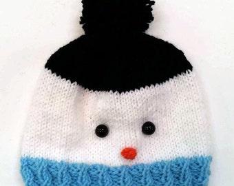 Snowman Hat - Stocking Stuffers for Kids - Snowman Baby Hat - Gifts for Kids - Gifts for Baby - Snowman Hat for Baby - Snowman Hat for Kids