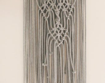 Gray Macramé Wallhanging