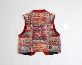 native american vest | cropped vest | southwestern vest