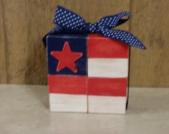 Flag Wood Blocks