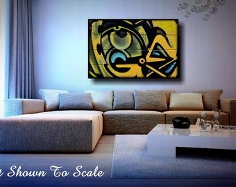 Graffiti Art Canvas, Large Canvas Art, Large Wall Art Canvas, Large Wall Art, Graffiti Art, Canvas Art, Graffiti, Abstract Art FREE Shipping