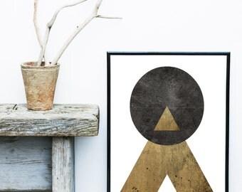 Mid Century Modern, Abstract Art, Printable Art, Scandinavian Art, Modern Art Print,  Wall Decor, Wall Art, Instant Download