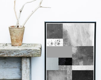 Textured Art Print, Grey Print, Printable Art, Geometric print, Scandinavian Art, Geometric Wall Art,  Abstract Art, Instant Download