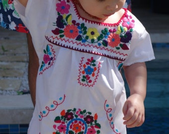 Embroidered Mexican Girl Dress - Kids - Baby