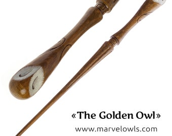 The Golden Owl - Marvelowls Wizard Wands Shop
