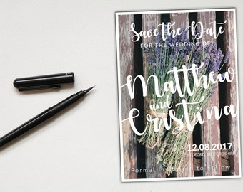 Printable Save the Date Template - Save the date printable - Save the date postcard template - Save the date printable rustic postcard