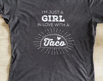 Taco Girl Screen Printed T-Shirt
