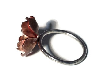Mixed Metal Poppy Ring
