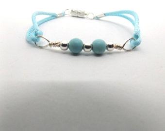 Turquoise Dyed Magnesite Bead Bracelet