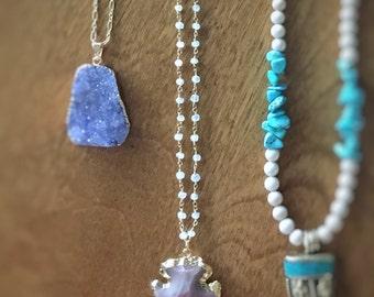 Lacie | Moonstone Gold Arrowhead Necklace