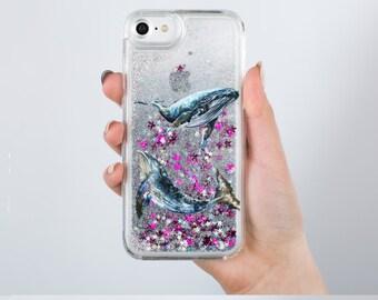 Glitter iPhone 7 Plus Case Glitter Liquid Case Glitter iPhone 8 Plus Case iPhone 8 Case iPhone 7 Case iPhone 6 Case iPhone 6s Case RD1203
