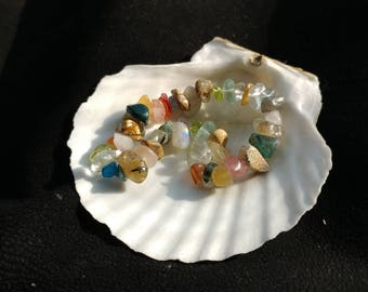 Assorted gemstone chips bracelet / natural bracelet
