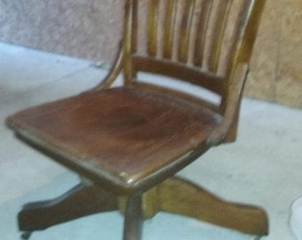 Antique Banker's Chair